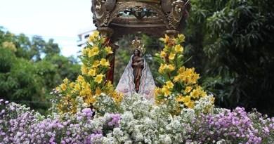 Imagem peregrina foi levada em um andor. (Foto: Larissa Noguchi - Basílica Santuário de Nazaré)