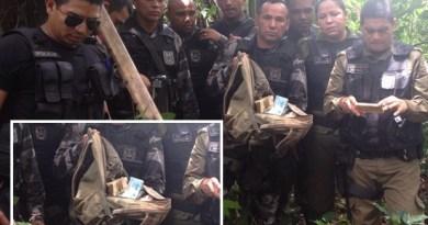 Parte do dinheiro foi recuperado e levado pelas policias Civil e Militar (Foto: Divulgação/Polícias Civil e Militar)