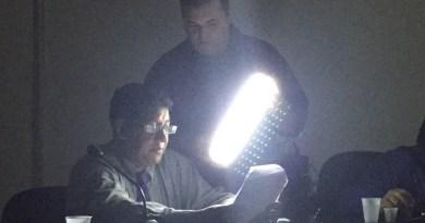 Sessão ordinária na Camara Municipal realizada sem energia eletrica