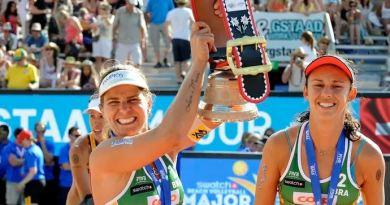 Larissa e Talita garantem sétimo título do Brasil no circuito (Foto: Denis Ferreira Netto / CBV)