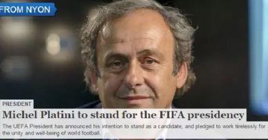 Uefa publica comunicado com anúncio de Platini (Foto: Reprodução/Uefa.com)