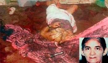 Belmira Ferreira (detalhe) foi assassinada na frente de sua neta, de 10 anos