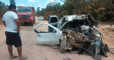 Acidente ocorreu em ramal no distrito do Mazagão Velho, em Mazagão (Foto: Divulgação/BPRE)