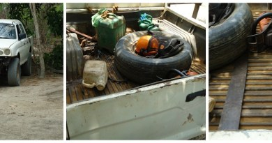 Veículo utilizado como suporte à retirada ilegal de madeira