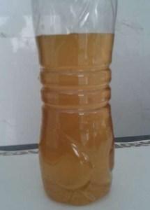 Agua suja na torneira em comercio de alimentos em Novo Progresso.