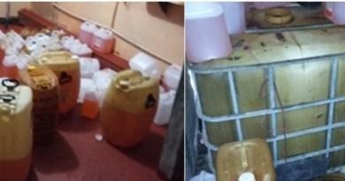 Armazenamento e comercialização clandestina de combustível em residência (2)