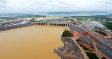 Reservatório de Belo Monte, em Altamira – Pará