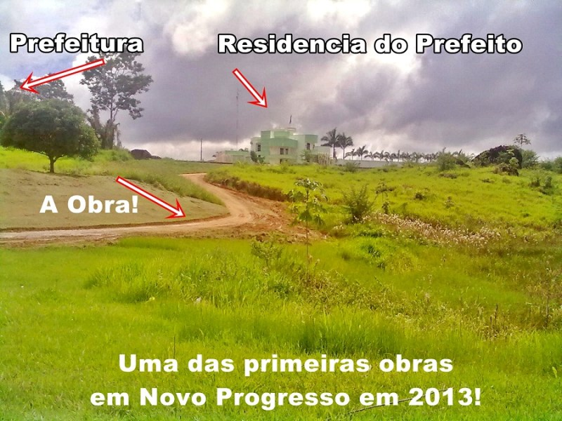 obras do prefeito romanholi em Novo Progresso