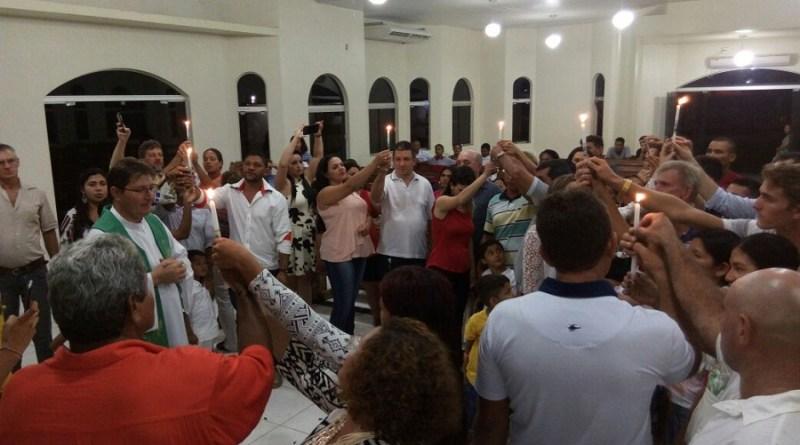 Igreja Católica realizou batizados.