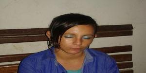Jurema presa com maconha,esposa do principal suspeito de matar empresário. (Foto PM)