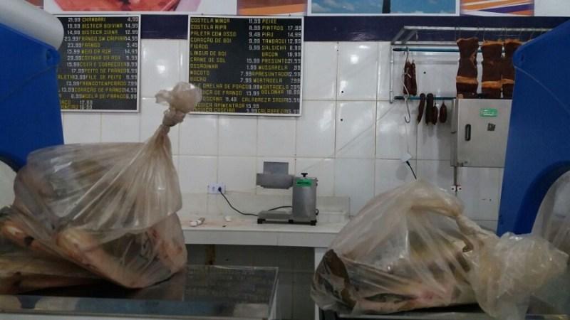 Peixes apreendidos em Supermercado de Novo Progresso