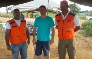 Sargento Rego,Juliano Simionato e Tenente Coronel Tito da Defesa Civil do estado do Pará