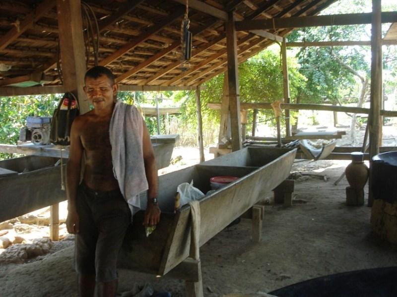 Comunitário de Ariramba numa casa de farinha da localidade