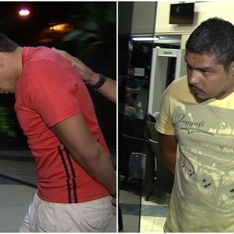 Apoena Índio do Brasil e Fabiano Júnior da Silva presos pela Polícia Federal (Foto: Reprodução/TV Anhanguera)