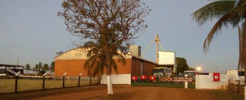 Integrantes do MST ocupam fazenda de empresa da família Maggi em Rondonópolis (MS) (Foto: MST/Facebook/Reprodução)