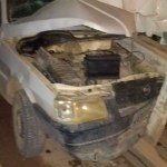 Veículo bate em proteção de ponte em Novo Progresso
