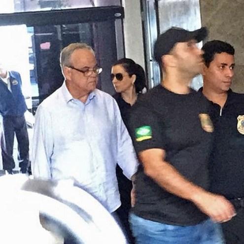 Lélis Teixeira chegou à sede da PF no Rio pouco antes das 10h deste segunda-feira (3) (Foto: Fernanda Rouvenat/G1)