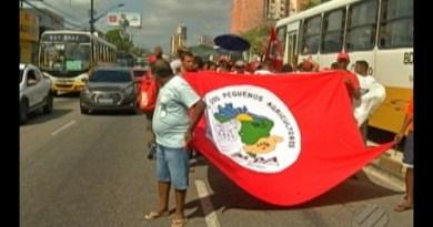 Grupo de agricultores do interior do Pará faz caminhada em Belém