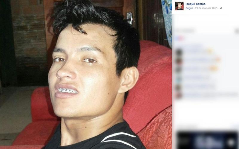 Isaque dos Santos levou uma facada no pescoço após dar um tapa no rosto da jovem; ele morreu no hospital (Foto: Facebook/Reprodução)
