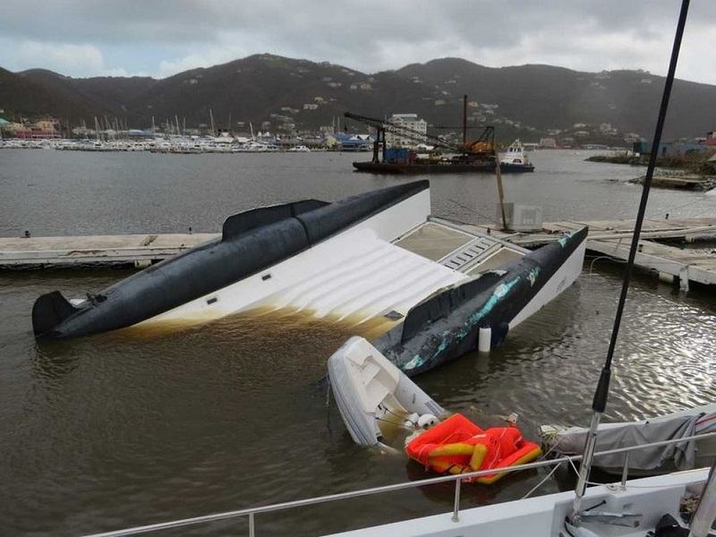 Cascalho afundou após passagem do furacão (Foto: Mauriane Conte/Arquivo Pessoal)