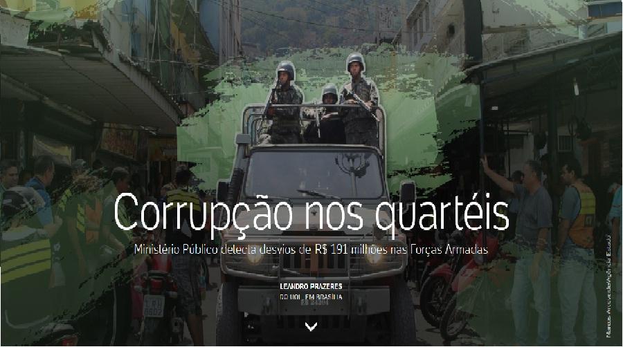 Corrupção nos quartéis - Ministério Público detecta desvios de R$ 191 milhões nas Forças Armadas