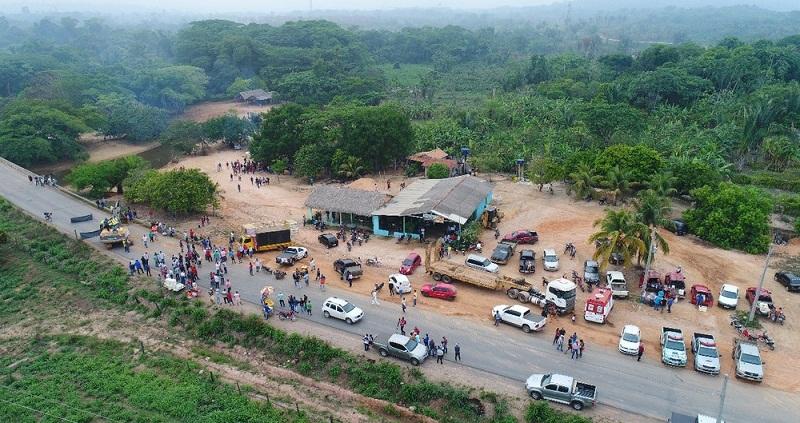 PA-279 foi interditada após operaçã do Ibama em garimpos ilegais na região (Foto: Divulgação/Cooperativa dos Garimpeiros de Ourilândia do Norte)