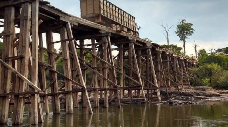 Ponte do Rio Jamanxim é interditada para reparos em Novo Progresso