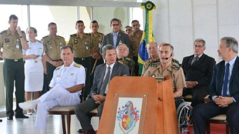 © BBC General Villas Bôas tem apareciso em solenidades usando cadeira de rodas | Foto: Reprodução/Twitter