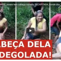 Polícia apresenta principal executor de jovem que aparece em vídeo sendo decapitada