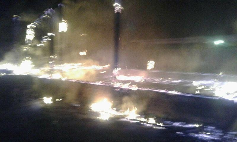Populares tentaram apagr o fogo , mas não tiveram sucesso, igreja ficou totalmente destruida