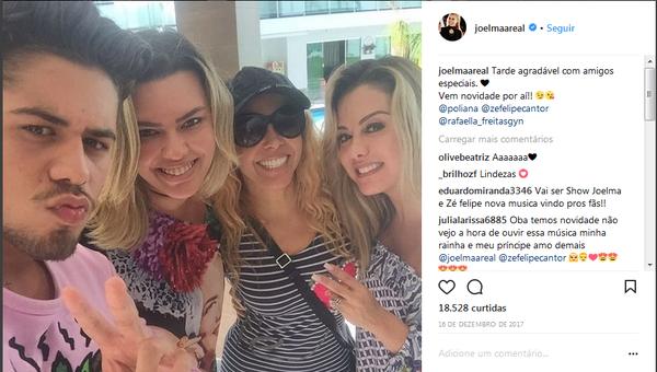 Parceria entre Zé Felipe e Joelma foi anunciada nas redes sociais. (Foto: Reprodução/ Instagram)