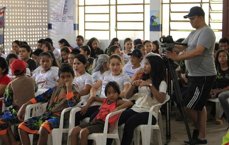 Fórum Comunitário em Santarém, durante a 2ª Edição do projeto Selo Unicef (Foto: Agência Santarém/Reprodução)