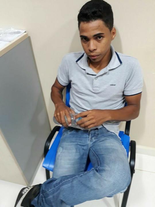Alan Ferreira da Silva esta preso na carceragem da policia civil em Novo Progresso, ele nega participação no crime