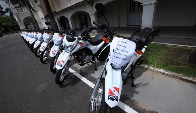 As 21 motocicletas irão ajudar no deslocamento a comunidades distantes nos municípios beneficiados