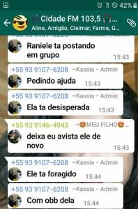 Postagem no grupo de whatsapp