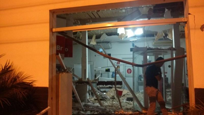 Quatro homens armados assaltaram banco em Alto Taquari (Foto: Polícia Civil de MT/Assessoria)