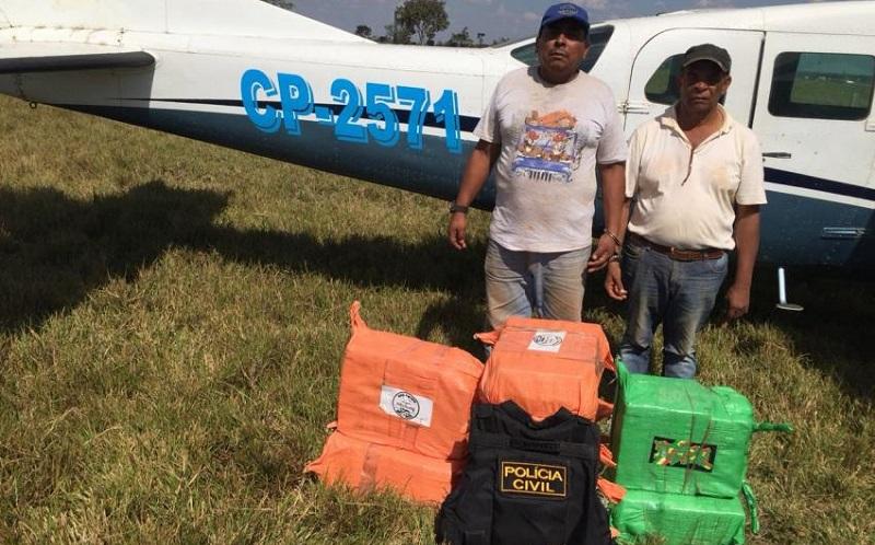 Policia Civil faz apreensão de mais de 300 kg de Cocaína e Aeronave