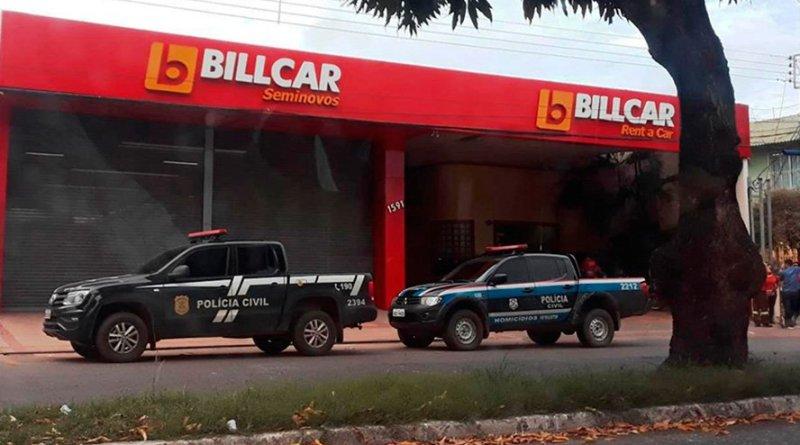 9ª Fase da Perfuga foi deflagrada nesta quinta-feira em Santarém e teve como um dos alvos uma locadora de veículos (Foto: Débora Rodrigues/TV Tapajós)