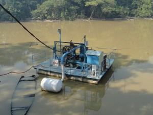 Local agua coletada em Novo Progresso (Foto:Jornal Folha do Progresso -Arquivo)