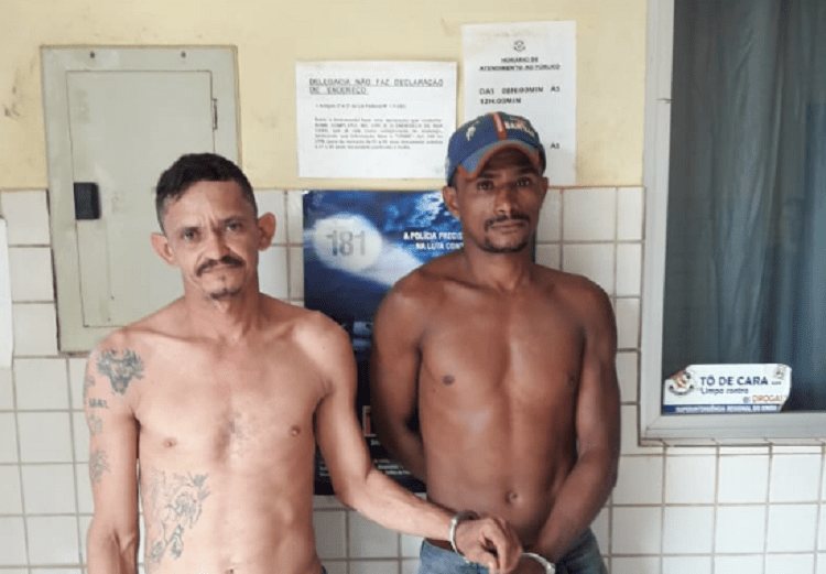 Dois suspeitos do crime foram presos. Foto: Divulgação/Polícia Civil