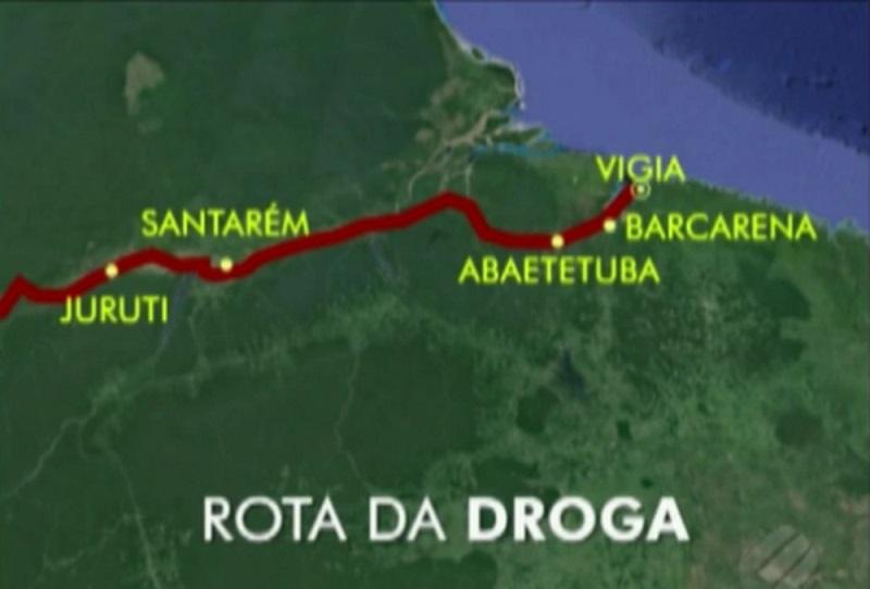 No Pará cinco município fazem parte da rota da droga (Foto: reprodução/Tv Liberal)