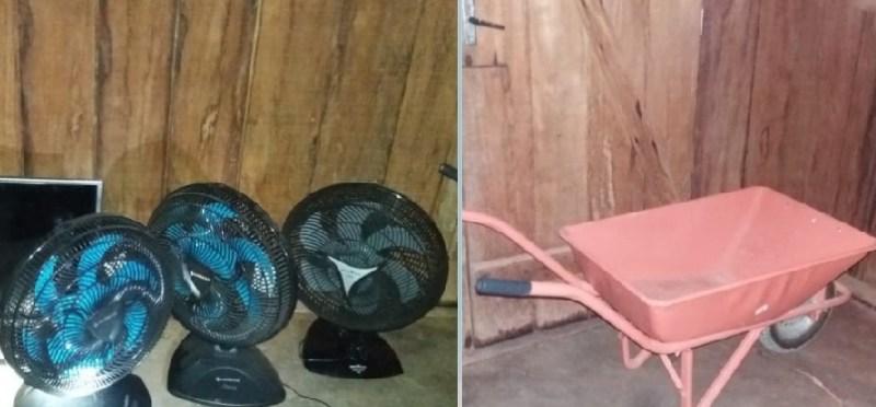 Objetos roubados (Foto: Plantão 24 horas news)