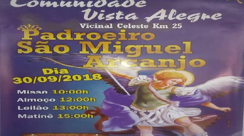 A Comunidade Vista Alegre  convida a todos para a festa de sua padroeira