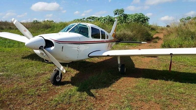 Avião que iria transportar dinheiro foi apreendido em Palmas — Foto: Divulgação