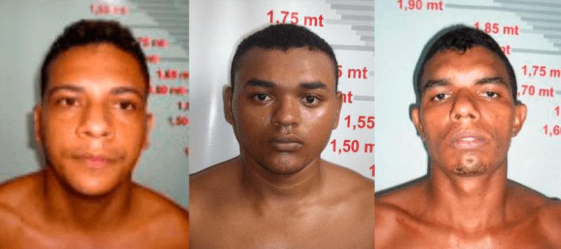 Rogério Monteiro Ramos, Wanderson Fernandes e William Santos Prazeres
