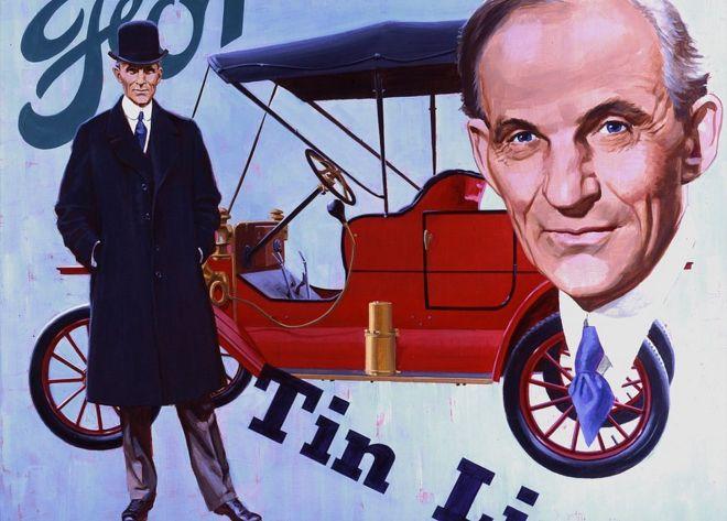 O carro-chefe da Ford, o Modelo T., podia ser produzido mais rápido que qualquer outro veículo antes dele