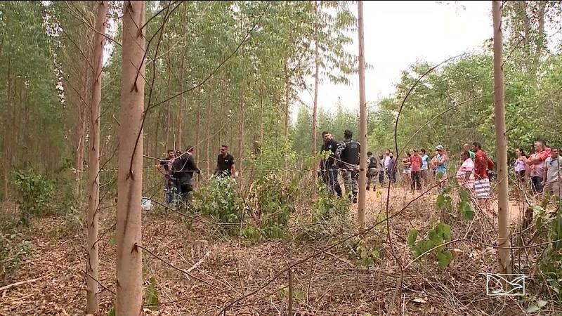Polícia Civil encontrou projéteis em plantação onde corpo de Ivanildo Paiva foi encontrado e confirmou morte no local — Foto: Reprodução/TV Mirante