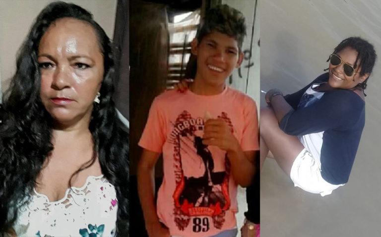 Jacicleia Moraes dos Anjos, Nathan Anjos e Ana Cristina Santos da Silva, vítimas. (Reprodução)