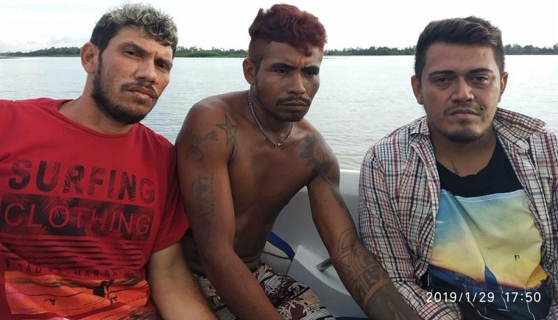 Policiais realizaram buscas e encontraram fugitivos da delegacia de Alenquer — Foto: Polícia Civil de Alenquer