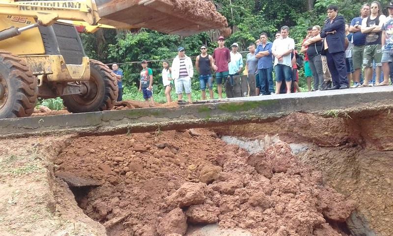 Reparos definitivos devem ser feitos ainda neste domingo (14) na PA-151 — Foto: Divulgação/ Setran